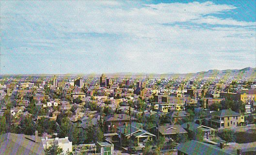 Birdseye view of El Paso,  Texas,  PU_1954