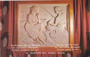 Secrets On The Rock by Jean-Julien Bourgault Famous Wood Carver, St. Jean-P...
