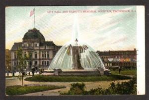 RHODE ISLAND PROVIDENCE RI City Hall Fountain UDB PC