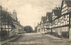 Ombersley UK~The Kings Arms Gastropub Streetview 1910 Postcard