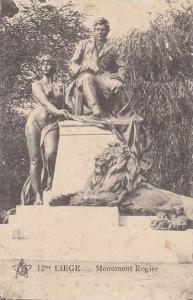 Belgium Liege Monument Rogier 1919