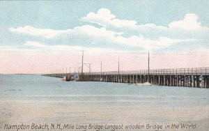 New Hampshire Hampton Beach Mile Long Bridge Longest Wooden Bridge sk763
