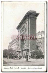 Old Postcard Collectin little Journal Paris Gate Saint Denis