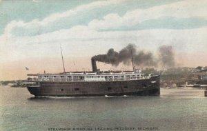 PETOSKEY , Michigan , 1900-10s ; Steamship MISSOURI Leaving