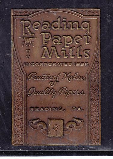 Reading Paper Mills - Heavy Foil Label