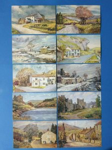 Set of 10 NEW Post Office Royal Mail Art Postcards Series NEPR 1-10 BP2