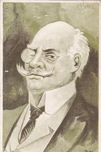 Stage Actors Head Caricature portrait , PU-1905 ; New York City ; #6