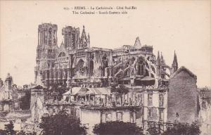 La Cathedrale Cote Sud Est The Cathedral South Eastern Side Reims