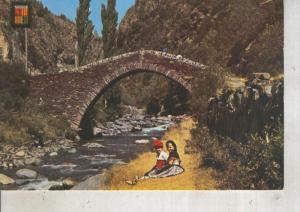 Postal 012397: Pont Romanic de Sant Antoni en la Massana, Andorra