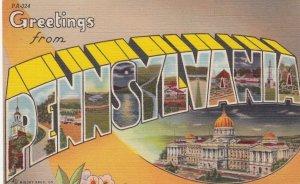 Large Letter PENNSYLVANIA, 30-40s