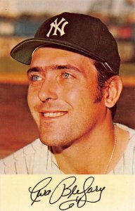 CURT BLEFARY~NEW YORK YANKEES~ROOKIE OF THE YEAR IN 1965~1971 CLINIC POSTCARD