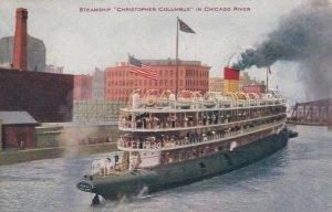 CHICAGO, Illinois, 1910 ; Steamship Christopher Columbus