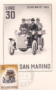 REP. di SAN MARINO, 1962, Maximum Card, 10 HP White 1903