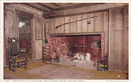 Massachusetts Boston Fireplace In Living Room Paul Revere House