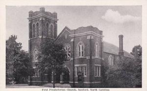 Exterior,  First Presbyterian Church,  Sanford,  North Carolina,   40-60s