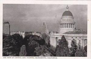 Air View Of Capitol And Vicinity, Sacramento, California, 1920-1940s