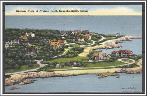 Maine Kennebunkport Aerial View of Arundel Point - [ME-141]