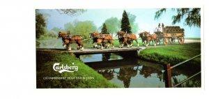 Carlsberg Beer Championship Team and Wagon Vintage Advertising