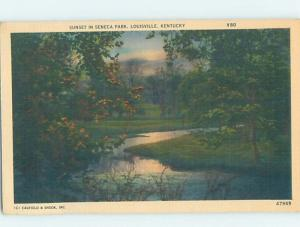 Unused Linen PARK SCENE Louisville Kentucky KY H2383