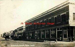 ID, Buhl, Idaho, RPPC, Business Block, 1915 PM, Pacific Photo No 7