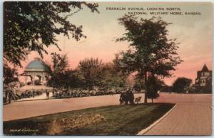 Leavenworth KS Postcard National Military Home Franklin Avenue c1910s Unused