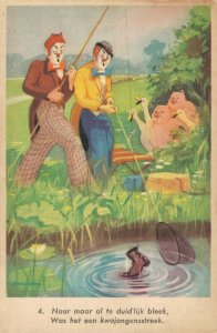 Circus Clowns With Pigs And Geese Postcard 04.78