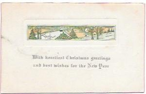 A Christmas Card. Great card sent from Iowa in 1916. #405 booklet.