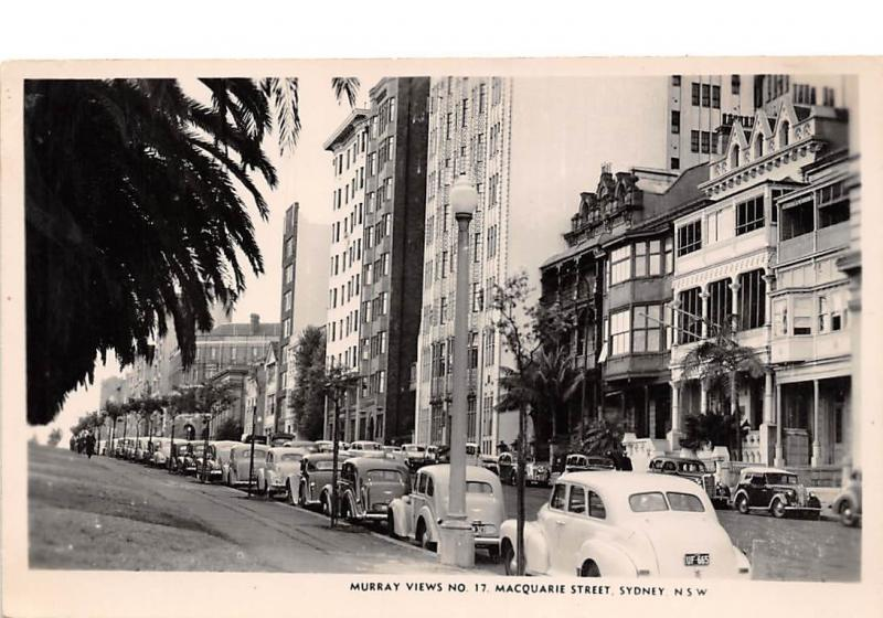 Australia MacQuarie Street Sydney vintage cars real photo