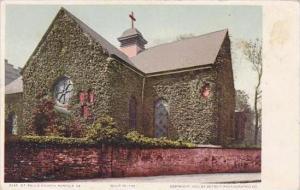 Virginia Norfolk Saint Pauls Church Buit In 1739