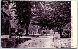 Chester, Pennsylvania Postcard Crozer Seminary Entrance w/ 1909 Cancel