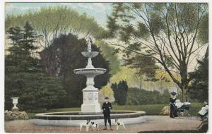 Glamorgan; The Fountain, Sophie Gardens, Cardiff PPC By MJRB, Unposted