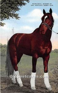 Whirlaway, Winner of 1941 Kentucky Derby Louisville, Kentucky, KY, USA 1944