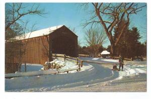 Covered Bridge Postcard New England