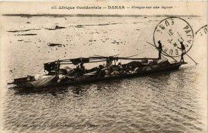CPA AK Dakar - Pirogue sur une Lagune SENEGAL (778853)