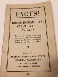 Vintage 1936 Democratic National Committee Gross Income Tax Booklet