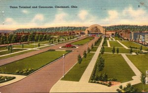 Ohio Cincinnati Union Terminal and Concourse 1949