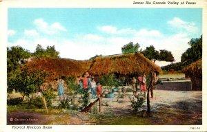Texas Lower Rio Grande Valley Typical Mexican Home Curteich