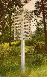 Maine Famous Signpost