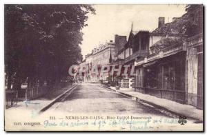Old Postcard Neris Les Bains Street Boirot Desseviers