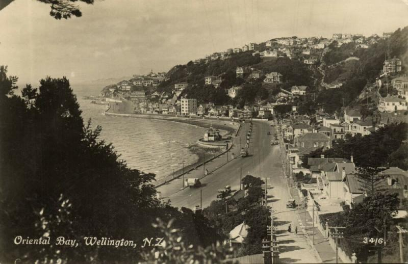 new zealand, WELLINGTON, Oriental Bay (1910s) Tanner RPPC 3416