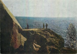 Ukraine Postcard Crimeea region sea panorama rocky cliff landscape