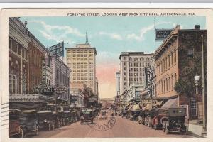 JACKSONVILLE, Florida, 00-10s; Forsythe Street, Looking West from City Hall