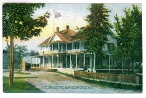 Pinelake to Hagaman, New York 1910 used Postcard, Caroga Lake Hotel