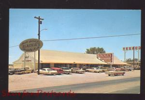 MORIARTY NEW MEXICO ROUTE 66 BLACKIE'S PLACE RESTAURANT 1960's CARS POSTCARD