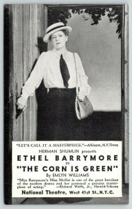 NYC National Theater~Philadelphia Actress Ethel Barrymore~Corn Is Green~1945 B&W