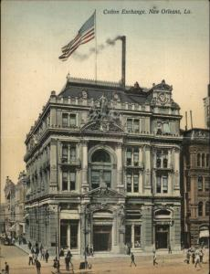 New Orleans LA Cotton Exchange Fold-Open c1905 Postcard jrf