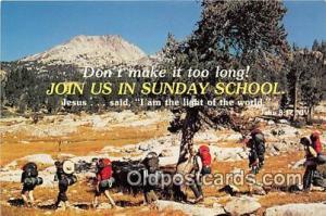 Religion Postcard  Sunday School