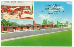 2-Views, Int. & Ext.,Colonial Motel and Restaurant on U. S. 15 N., College St...