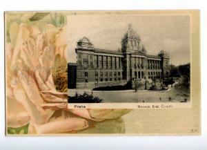 191896 CZECH PRAHA ART NOUVEAU Rose Vintage 1902 year RPPC