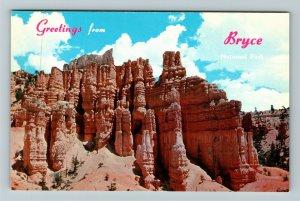 Bryce UT- Utah, General Greetings, Bryce Canyon National Park, Chrome Postcard